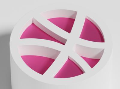 Dribbble branding logo animation illustration blender blender 3d 3d art 3d dribbble invite dribbble