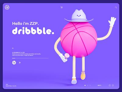 hello,dribbble! ux website animation typography vector logo illustration