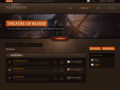 Tartarus [XenForo Design] mmorpg community gaming forums xenforo forum