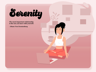 Serenity - 2021 New Years Resolution dribbbleweeklywarmup new year 2021 resolutions goals mental health health self care yoga