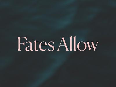 Fates Allow typography branding logo