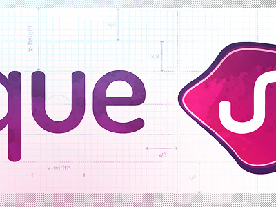 Logo Study... logo measurements corporate identity purple pink illustrator adobe paths x-width textured corporate design