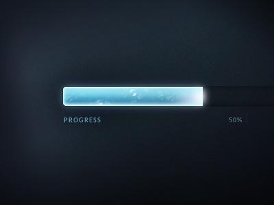 Animated CSS Progress Bar base64 css css3 box-shadow progress bar blue glowing flowing animated css-animation ui pure css