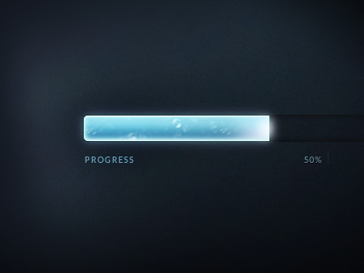 Animated CSS Progress Bar base64 css css3 box-shadow progress bar blue glowing flowing animated css-animation ui pure css