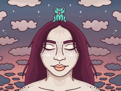 Pastel Queen Illustration