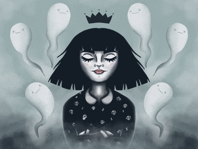 Ghost Lady Illustration