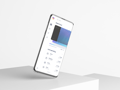 Ubank - App dashboad limited payment mobile banking mockup gradient spending finance credit card bank card banking bank app clean interface design sunday minimal button