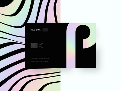Holo Bank sunday finance banking website logo app branding bankingapp clean black minimal gradient pattern deisgn uiux cards ui credit card bank banking card