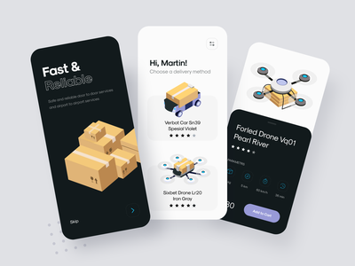 Delivery App sunday delivery app drone delivery illustration ui mobile uiux design clean app interface minimal
