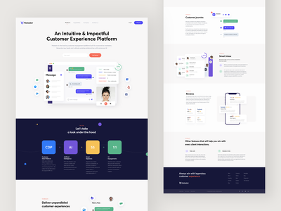 Matador - Landing Page product design platform ui homepage website landingpage landing web clean interface minimal sunday