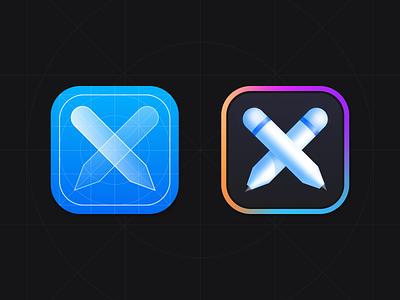 iOS App - Icon 3d logo 3d dark app branding logodesign pencil ios app dark application icon app design application mobile uiux icon design logo icon iphone apple ios sundaycrew