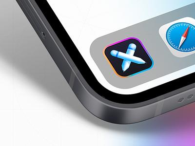 iOS Logo Design application icon ios app design pencil apple 3d logo 3d logo design iphone minimal vector ux branding mobile ui icon application ios app mobile ios logo sundaycrew