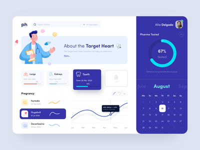 Healthcare Dashboard sunday button interface ux flat healthcare test doctor app hospital web design minimal medical medecine dashboard doctor pill clean ui design illustration