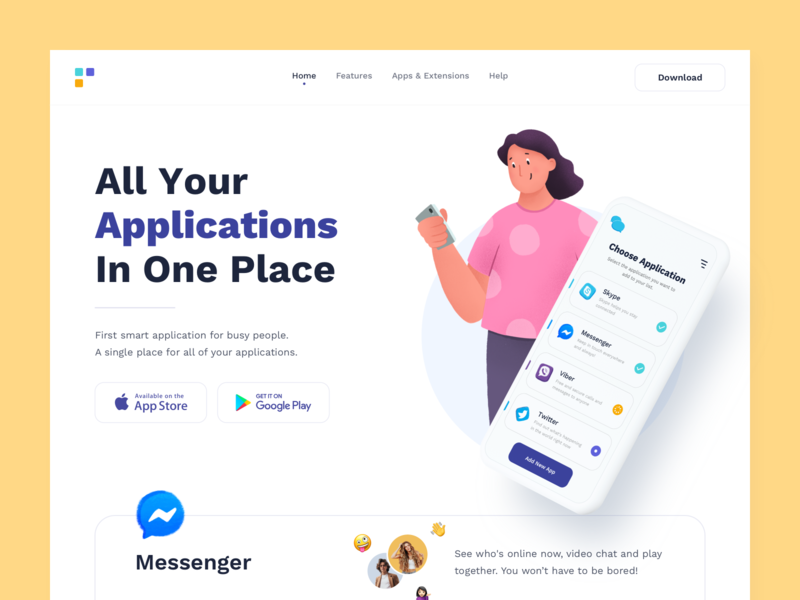 Apps - Landing