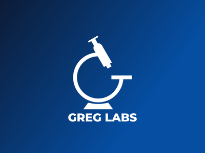 Greg Labs logocreation bluegradient inspiredesign designsprint bluelogo logoinspirations designagency creative design illustration graphicdesign