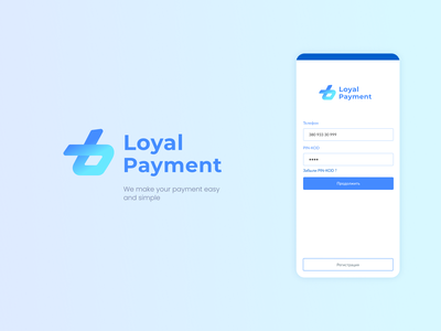 Loyal Payment - Payment Mobile Application communal utility bills mobile app home page main page list of payments profile credit card list login ui ux payment logo design branding