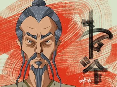 Chinese Old Man old man chinese conceptual painting caricature character design head design digital art cartoon photoshop character