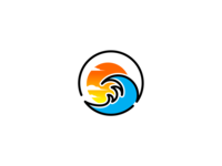 waves with sunset logo