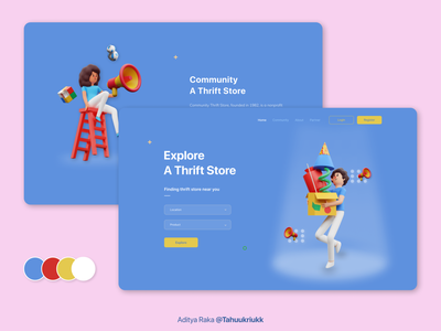 Finding Thrift Store dribbble indonesia indonesia designer typography ux ui uidesign webdesign