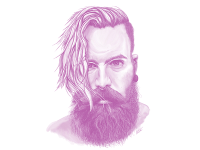 Face Study of Adam Koebel digital illustration digital painting drawing study realism face pink twitch.tv twitch adobe photoshop illustration raster illustration