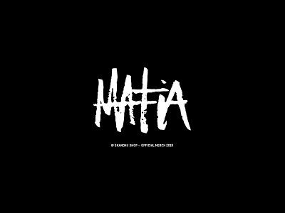Mafia tee for Skandau bandmerch band typo typography art brushtype caligrafia caligraphy typography tshirt design tshirtdesign tshirt art tshirt tee shirt tee design tee