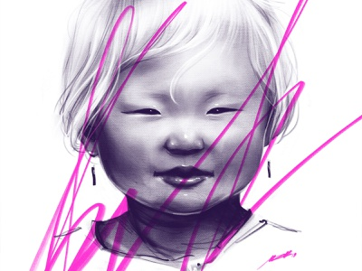 Kid Study character cute sketch draw kid boy face drawing portrait art artwork illustration