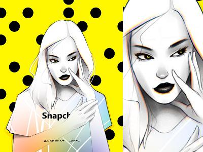 Snapgirl print poster art poster digitalart eyes female face drawing portrait artwork illustration girl snapchat