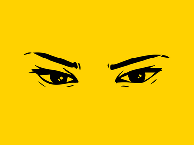 The eyes, Chico, they never lie. simplistic simplify simple eye sexy eyes artwork art illustration girl