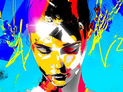 Sad Influence portrait painting digital portrait digital painting painting print desire love foundation genesis abstract cryptoart nfts nft hair drawing art artwork illustration portrait girl