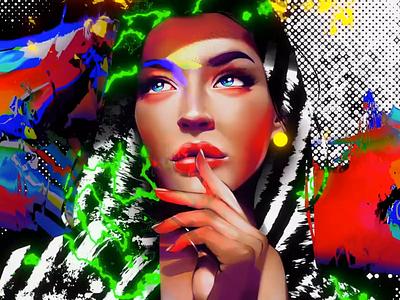Aya ⚡️ Midnight Metaverse cyberpunk sci-fi tokyo love beauty woman motion graphics blender procreate digital painting digital portrait painting crypto animation nft portrait artwork art illustration girl