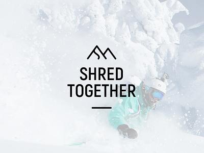 Shred Together New logo winter clean mnml minimal logotype typography symbol simple snowboard type logo