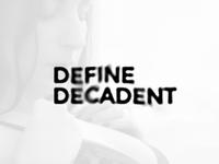 Define Decadent logo