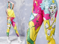 Badinka Yellow leggings