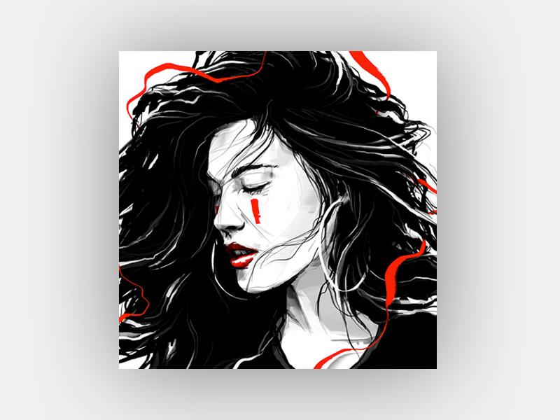 Red Beauty desire portrait hair eyes sensual love girl cyber cyberpunk beauty red red beauty
