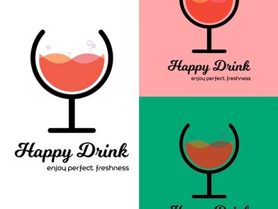 Happy Drink Vector Art