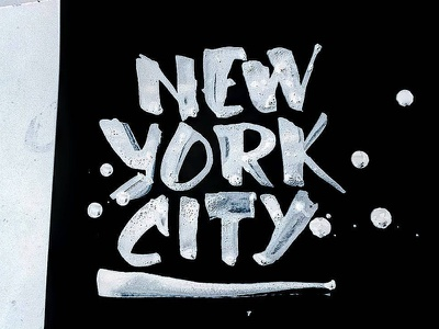 New York City texture black and white grundgy new york city handdrawn illustration design typography type ink handlettering lettering