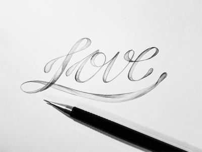 Love illustration design calligraphy typography type handlettering lettering drawing doodle pencil love inktober