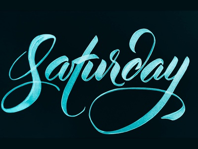Saturday texture brush handwritten typography type design illustration handlettering handwriting lettering brush pen saturday