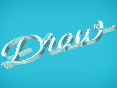 Draw! wireframe digital handwriting illustration ipad pro umade typography type lettering calligraphy draw 3d
