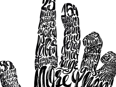 Modern Slavery detail calligraphy typography type infographic handdrawn ink social issues illustration handlettering lettering slavery