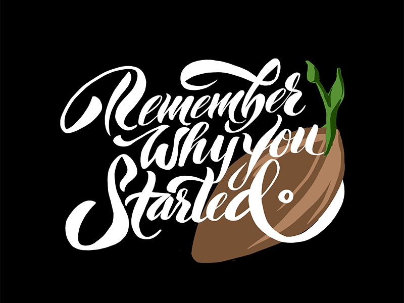 Seed inspiration motivation sketch design typography type handwritten handwriting digital illustration handlettering lettering