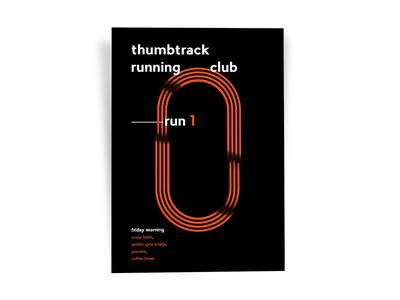 Thumbtack Running Club Poster