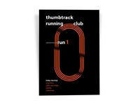 Thumbtack Running Club Poster