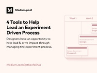 Medium Post | 4 Tools to Help Lead an Experiment Driven Process
