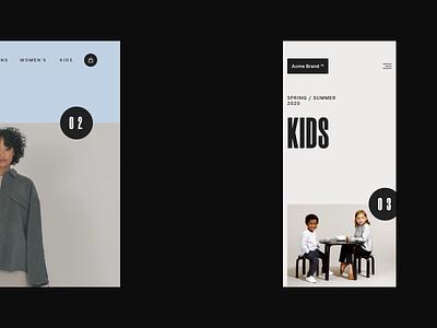 Lookbook - Style exploration editorial layout minimal typography interactive animation fashion brand fashion