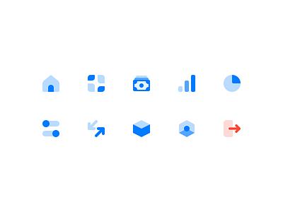 Dashboard Menu - Icons blue ui ux minimal icons pack menu bar dashboard ui
