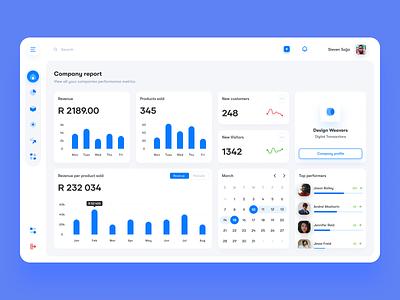 Desktop Dashboard data iconography blue minimal desktop dashboard