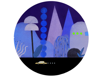 Taxi driver digitalart dribbble paint draw blue artist art september 2020 autumn thursday colors creative inspiration illustration illustrazione illustrator