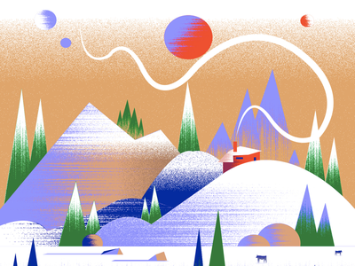 Xmas Planet 🟣 artist art inspiration ski christmas 2020 snow winter mountain gradien drawing digitalillustration christmas2020 xmas dribbble digitalart adobe creative illustrator illustration
