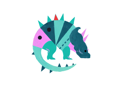 🔺🐢 dailyart mondayart illustrator acrylicpainting dinosaur painting drawing sketch doodle dribbble creative art inspiration illustration